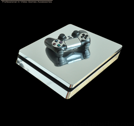 PS4 Slim Sticker Silver